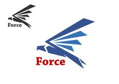 Force symbol with blue falcon Stock Illustration