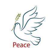 Dove of peace with olive branch Stock Illustration