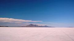 Hot Summer day at Bonneville Salt Flats, Utah. Stock Footage