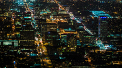 Downtown Glendale, California Night Timelapse Stock Footage