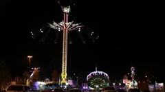 Fair ride shot at the West Coast Amusements Carnival - stock footage