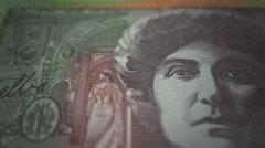 Australian dollar banknote cash finance currency - stock footage