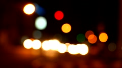 Defocus night traffic light , chiangmai Thailand Stock Footage