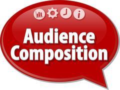 Audience Composition Marketing Business term speech bubble illustration Stock Illustration