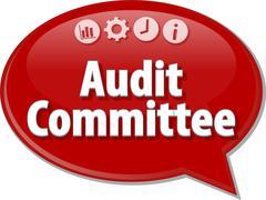 Audit Committee Finance Business term speech bubble illustration Stock Illustration