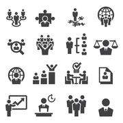 Human resources and management icons Stock Illustration