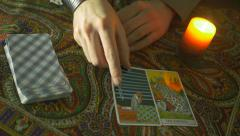4K Fortune Teller Showing Cards Stock Footage