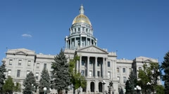 Colorado State Capitol Building Stock Footage