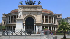 Teatro Politeama Garibaldi 2 Stock Footage