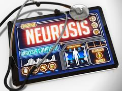Neurosis on the Display of Medical Tablet Stock Illustration