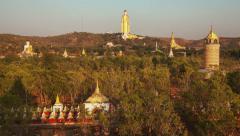 Big Golden Buddha Myanmar Stock Footage