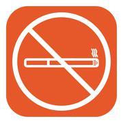 No smoke icon. Stop smoking symbol. Vector Piirros