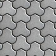 Gray Pavement of Combined Hexagons - stock illustration