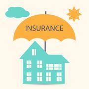 House insurance - stock illustration