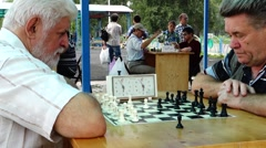intellectual chess match - stock footage