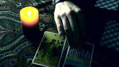 4K Foreteller Warlock Tarot Fortune Teller - stock footage