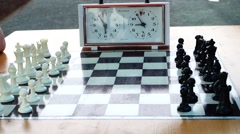 The game of chess Stock Footage