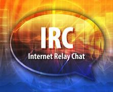 Stock Illustration of IRC acronym definition speech bubble illustration