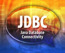 Stock Illustration of JDBC acronym definition speech bubble illustration