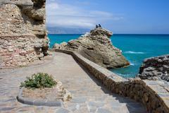 Nerja Sea Promenade in Spain - stock photo