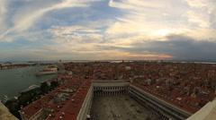 Aerial Skyline Panoramic View of Venice (Venezia) Stock Footage