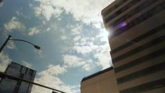 Sun Flare Around Office Building Stock Footage