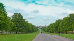 Windsor The Long Walk avenue walking park. Stock Footage
