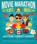 Movie Promo Poster Stock Illustration