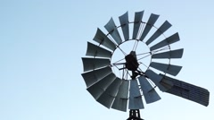 An old style rural windmill. Stock Footage