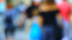Unknown people walking by - stock footage