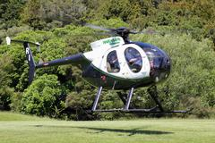 Helicopter flight Stock Photos