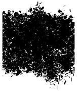 Grunge abstract pattern in black over white Stock Illustration