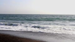 The Pacific Ocean at Rodeo Cove, north of San Francisco Stock Footage