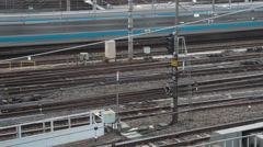 Railroad tracks in Ueno timelapse Stock Footage