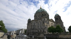 View of Berliner Dom Stock Footage