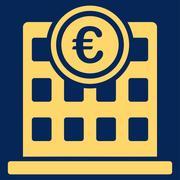 Company building icon - stock illustration