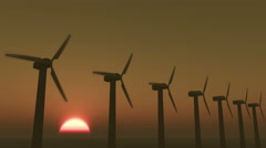 4k Windmill Turbines Clean At Sunrise timelapse,Green Wind Energy,new power. Stock Footage