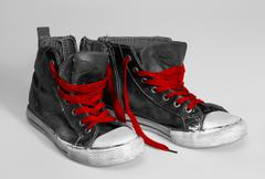 Rundown sneakers Stock Photos