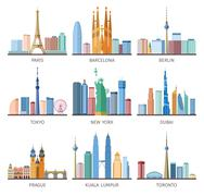 Cities Skylines Icons Set Stock Illustration