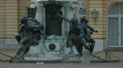 Statues in front of Charlottenburg Palace, Berlin Stock Footage