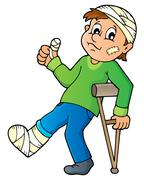 Patient theme image - eps10 vector illustration. - stock illustration