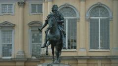 The statue of Friedrich Wilhelm I of Brandenburg in Berlin Stock Footage