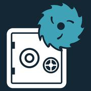Hacking theft icon - stock illustration