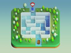 Stock Illustration of boat are about to enter the maze