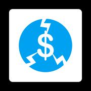 Stock Illustration of Financial Crash Icon