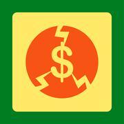 Financial Crash Icon - stock illustration