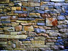 Stock Photo of abstract wall stone blue