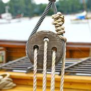 Ship rigging - stock photo