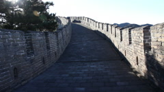 Chinese Great Wall pathway, Mutianyu Stock Footage
