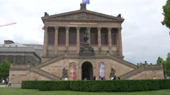 An amazing view of the Altes Nationalgalerie, Berlin Stock Footage